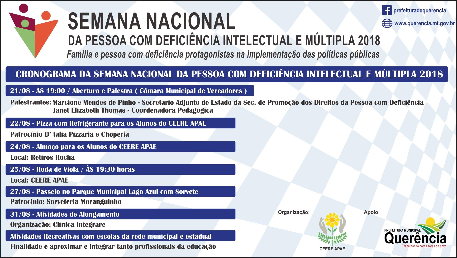 Semana Nacional da Pessoa com Deficiência Intelectual e Múltipla 2018 57ed90eedc